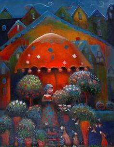 The illustrations of Raija Nokkala Finland Tove Jansson, Naive Art, Pretty Pictures, Folk Art, Illustration Art, Beautiful, Artwork, Artist, Flowers