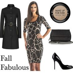 Fall Fabulous features Perlae's Black and Mocha Swirl Dress with 3/4 length sleeves. A stylish cut with a sophisticated print, this dress looks great with a black trench coat, like the Reiss Margo Cotton Trench. Match that with a black clutch and shoes for an unforgettable outfit. Find it at http://www.perlaecouture.com  #fallfashion #fallstyle #LittleBlackDress