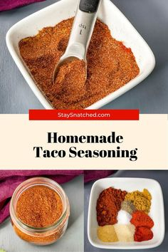 This Homemade Taco Seasoning Recipe only requires 7 ingredients, spices you probably already have on hand in your pantry or kitchen. Use this as a flavoring agent or rub for your favorite meats… More