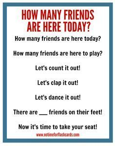 Great circle time chant for preschool!