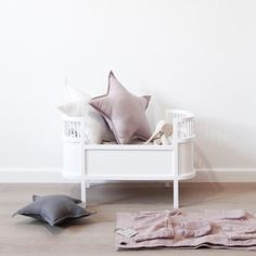 Rosaline Wooden Doll Bed - White - 1