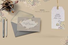 SKETCHED LOGO & CARD elements by Ingrid Marais Design on @creativemarket