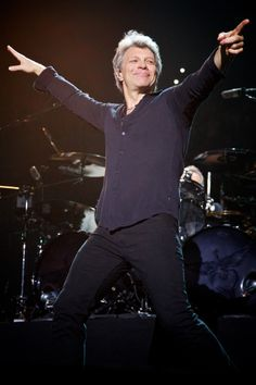 """Jon Bon Jovi can still work a crowd. Photo by David Bergman / TourPhotographer.com February 8, 2017 -- Jon Bon Jovi performs on stage with his band Bon Jovi during opening night of the """"This House is Not For Sale"""" tour at the Bon Secours Wellness Arena in Greenville, SC."""