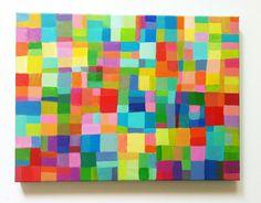 Abstract Painting / ORIGINAL PAINTING/ Geometric door tushtush, $85.00