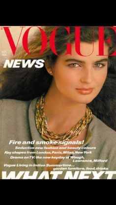 Eva Voorhees covers UK vogue August 1980