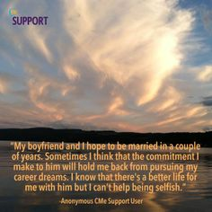 Quotes from anonymous users are easily relatable. Join CMe Support Today and share your stories anonymously at www.chronicleme.com