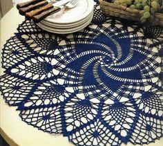Crochet Art: Lace Doily - Pineapple Crochet Lace Doily
