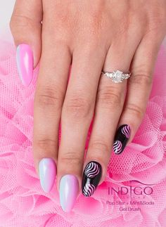by Paulina Walaszczyk, Double Tap if you like #mani #nailart #nails #ombre #pink  Find more Inspiration at www.indigo-nails.com