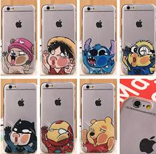 New Cute Cartoon Hero Funny Clear Hard Phone Case For iPhone 5S 5C 6 6plus