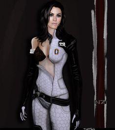 Miranda Lawson of Mass Effect. That accent. Mass Effect 2, Mass Effect Universe, Mass Effect Cosplay, Miranda Lawson, Female Comic Characters, Yvonne Strahovski, Guys And Dolls, My Favorite Image, Cosplay Girls