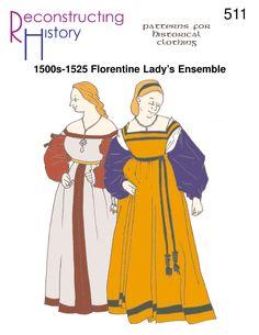 16th Century Florentine Gown | Italian Renaissance Outfit | 1500-1525 Florentine woman's outfit