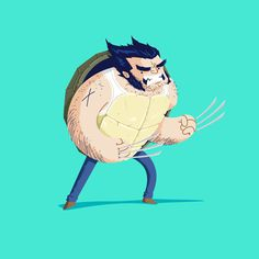Heroes in a Half Shell: Wolverine