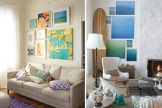 Different ways to style a wall