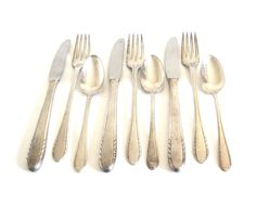 """New to LaurasLastDitch on Etsy: Antique Silverware Set Silverplate Basic Service for 3 (9 pieces - forks spoons knives) Holmes & Edwards Inlaid IS """"First Lady"""" 1930s (32.99 USD)"""