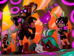 Oh dear...this is a bad situation #splatoon These octoling dudes design are actually pretty cool, but they look like 25 more than around 14