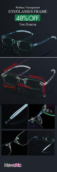 4af6a3951b  Newchic Online Shopping  48%OFF Rimless Transparent Eyeglasses Frame