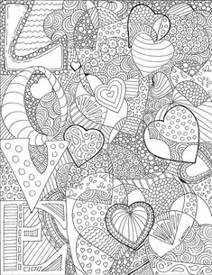 LOVE Colouring Page By Candidaartstudio