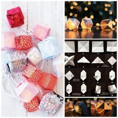 Origami String Lights | 28 Outdoor Lighting DIYs To Brighten Up Your Summer
