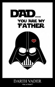 Star Wars Inspired Fathers Day card (Printable) - Star Wars Vader - Ideas of Star Wars Vader - Tarjeta del dÃa de Star Wars inspirado padre imprimible Cadeau Star Wars, Anniversaire Star Wars, Daddy Day, Darth Vader, Fathers Day Crafts, Fathers Day Shirts, Star Wars Party, Mother And Father, Mothers