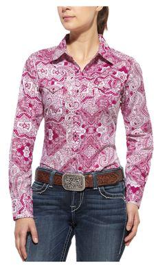 Ariat Bandana Print Alpine Violet Shirt 10010774, Lammle's Western Wear & Tack