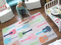 Bee In My Bonnet: Making Gracie's Guitars quilt!!! ...