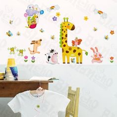 [Animal Feast] Decorative Wall Stickers Appliques Decals Wall Decor Home Decor by Hemu Wall Sticker. $5.89. Simple & easy to make the wall a masterpiece with Blancho Bedding wall stickers decals.. 100% brand new, quality & a good design; Be made of waterproof and durable vinyl.. Decorate baby and kids nursery, interior walls or windows of home, bathroom, office, dorm, or store.. Size: (W)19.5 inches x (H)27.0 inches; Color: Mixed (You could see the color in the images).. Easy...