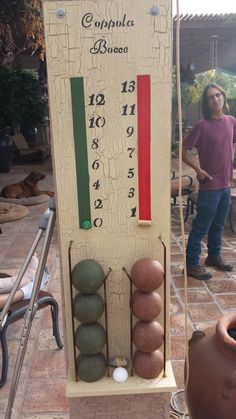 A great scoring device for bocce. Giant Outdoor Games, Outdoor Yard Games, Outdoor Fun, I Love Games, 90th Birthday, Patio Ideas, Yard Ideas, Party Themes, Backyard