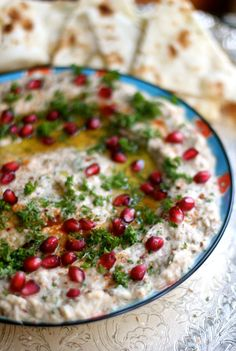 Middle Eastern Eggplant and Tahini Dip