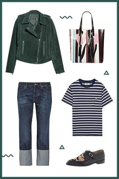 5 Errand-Running Outfits That Only Look Like You Tried Hard #refinery29  http://www.refinery29.com/running-errands-casual-outfits#slide5  The Not-Your-Average Jeans & Tee ComboThe pairing of jeans and a T-shirt will never be passé, but with a thoughtful combination of prints and textures, it will also never feel obvious.