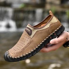 $43.60 | ZUNYU Classic Comfortable Men Casual Shoes Loafers Men Shoes Quality Split Leather Shoes Men Flats Hot Sale Moccasins Shoes Outfit Accessories FromTouchy Style | Free International Shipping. Mens Brown Casual Shoes, Best Casual Shoes, Best Shoes For Men, Casual Sneakers, Sneakers Fashion, Fashion Shoes, Men Casual, Summer Sneakers, Men Fashion
