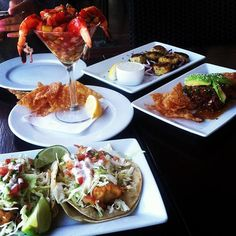 Which would you prefer? 1) Baja fish tacos, 2) shrimp cocktail, 3) ahi tuna poke, 4) mini crab cakes, or 5) ALL OF THE ABOVE!