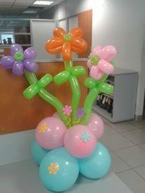 globo forma flores