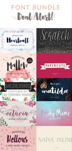 Font Bundle Deal | angiemakes.com Hand Drawn Fonts, Hand Lettering Fonts, Typography Fonts, Lettering Styles, Doodle Inspiration, Graphic Design Fonts, Graphic Design Tutorials, Commercial Fonts, Crafts For Teens To Make