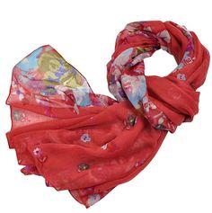 multicolor scarf  Floral Women Shawl  Fall Fashion Cowl by cotele