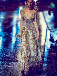 Free People FP ONE Wisteria & Lattice Maxi Dress at Free People Clothing Boutique