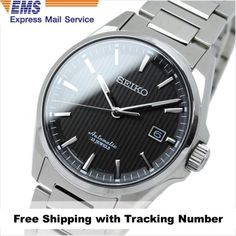 SEIKO-PRESAGE-SARX015-Automatic-Analog-Silver-Black-Mens-Watch-Made-in-Japan-FS