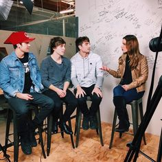 Who's ready to hear @emblemthree's new music?! Check back tomorrow when their first performance of a new track premieres on our site! #emblem3 #emblemthree #thewrap
