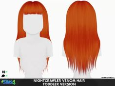 Sims 4 Hairs ~ Coupure Electrique: Nightcrawler Venom hair retextured toddlers and kids wersion Sims 4 Mods, Sims 4 Game Mods, Sims 4 Toddler Clothes, Sims 4 Cc Kids Clothing, Toddler Hair, Hair Kids, The Sims 4 Pc, Sims Four, Sims Cc