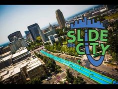 Slide the City: a 1,000 foot slip 'n slide in Salt Lake City! Sometimes it's not too bad living in a desert state without beaches...