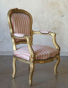 louis  xv chair - great stripe