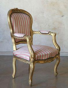 Louis Xv Chair   Great Stripe Chair Redo, Sofa Chair, Armchair, Louis Xv