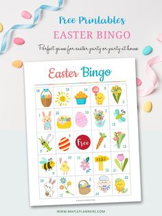 Easter Bingo, Easter Games, Easter Activities, Fun Activities For Kids, Easter Party, Holiday Party Games, Holiday Ideas, Bingo For Kids, Bingo Games