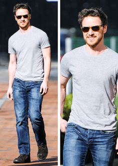 James McAvoy outside the Lowry Hotel in Manchester on June 7, 2014