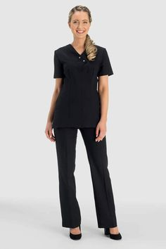 PARLOURS WOMENS BEAUTY /& SPA TROUSERS for SALONS BLACK MASSAGE THERAPISTS