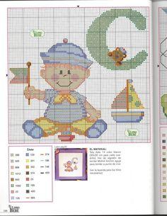 Baby in Costume Alphabet Cross Stitch Patterns L Cross Stitch For Kids, Cross Stitch Baby, Cross Stitch Alphabet, Cross Stitch Charts, Cross Stitch Patterns, Baby Costumes, Letters And Numbers, Embroidery Art, Baby Patterns