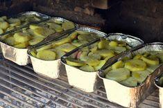 ziemniaki zapiekane z grilla Sprouts, Grilling, Vegetables, Food, Crickets, Essen, Vegetable Recipes, Meals, Yemek