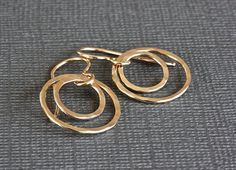 Small Hammered Circle Earrings Gold Filled by ThePassionatePearl, $35.00 #SmallCircleEarrings #GoldFilled #SterlingSilver