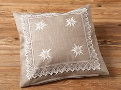 "funda de almohada decorativa ""Edelweiss"", 45x45 cm AUSTRIA"