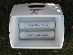 The Polar Bear Tubes are 2 inch PVC pipes with standard end caps custom built to fit inside your cooler. Held together with traditional PVC glue. Only fill the tube to about 90%. It serves as dead space that will fill with ice as the water expands.  recommends leaving it sit for at least an hour before filling with water.