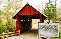 Campbells Covered Bridge is just a short drive from Downtown Greenville. It's a wonderful spot for a picnic, leisurely walk on the nature trails, or the starting point of a day full of adventures.  www.BuyUpstateHomes.com